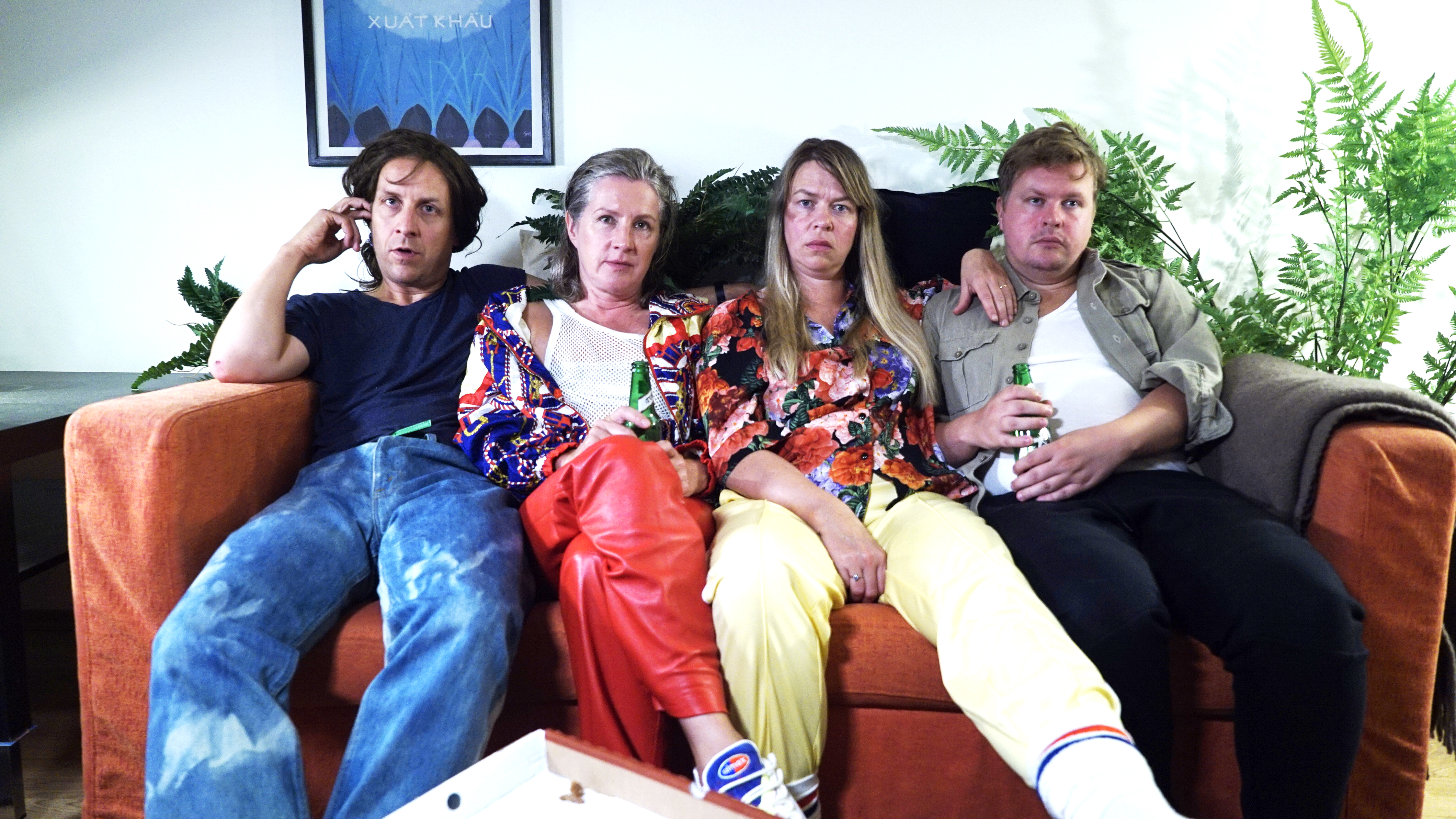 From the left: Ole Johan Skjelbred, Andrine Sæther, Tone Mostraum and Olav Waastad in Working title: Absent community